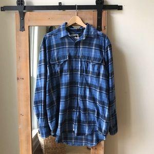 Mountain Khakis Blue Plaid Flannel Shirt